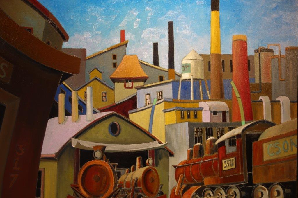 Choo-Choo, Oil on Canvas, Hespler, Mexico, Cuba inspiration